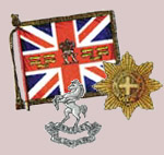 Regimental Standards and Cap Badges