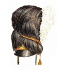 Officer's full dress bearskin 1815