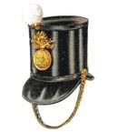 Officer's full dress shako 1844